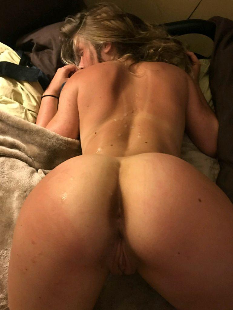 Cum on back